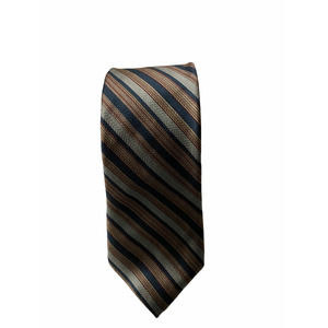Yves Saint Laurent All Silk Vintage Striped Tie